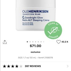 Olehenriksen moisturizer